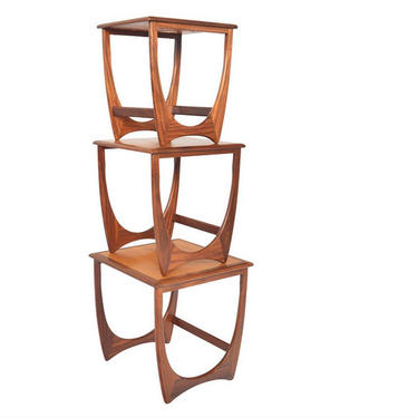 1960's Mid-Century Modern Astro Teak & Afromosia Nesting Tables by Victor Wilkins for G Plan - Set of 3 by RabidRabbitAntiques