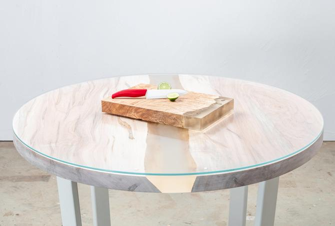 Round Breakfast Table w/ Resin & Glass by KirkpatrickDesigns