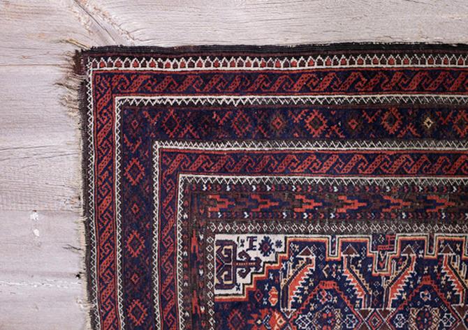 Tiny Diamond Vintage Oriental Rug