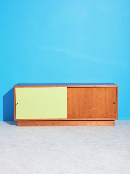 Low Cabinet with Lime Green Door