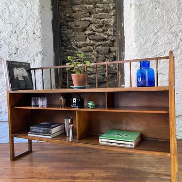 Mid century bookshelf Danish modern display shelf Lane bookshelf by VintaDelphia