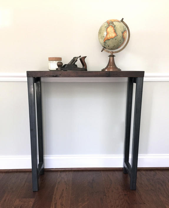 The TITAN Console Table - Reclaimed Wood & Steel Console Table - Reclaimed Wood Console Table by arcandtimber