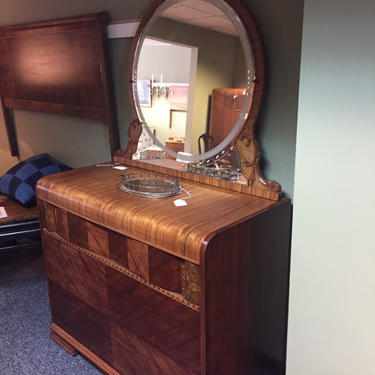 Ornate Art Deco Dresser with Mirror by AgentUpcycle