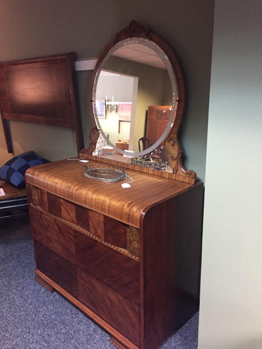 Ornate Art Deco Dresser With Mirror By Agentupcycle From Agent