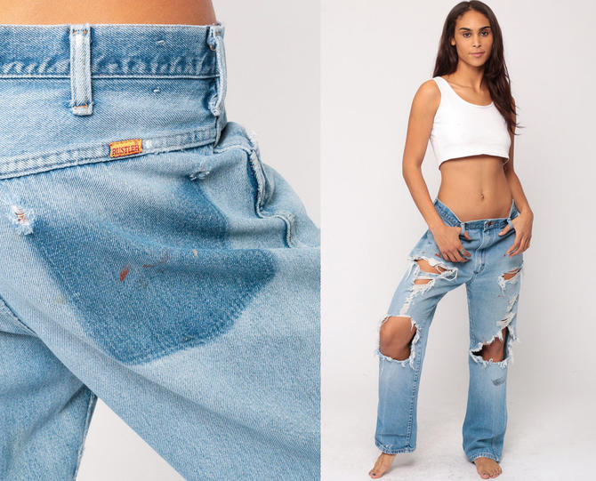 order online popular brand pretty cheap Ripped Jeans Boyfriend Jeans BAGGY Jeans Distressed Jeans ...