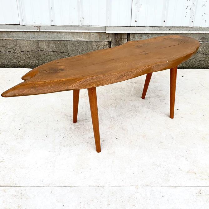 Vintage Live Edge Slab Coffee Table by secondhandstory