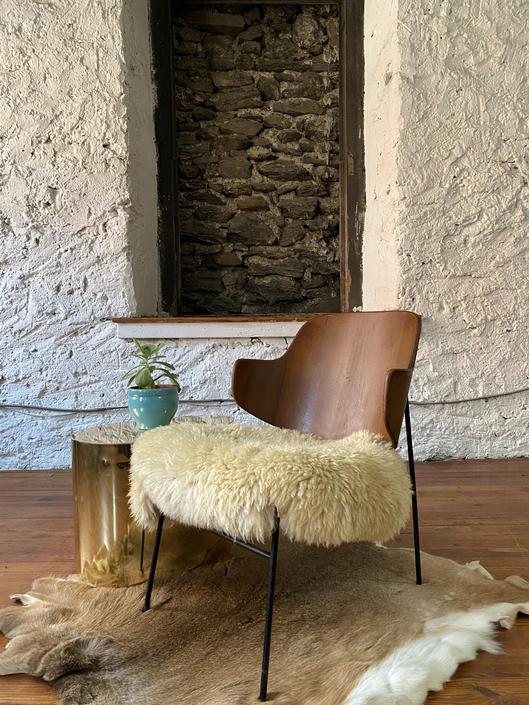 Mid century lounge chair Kofod Larsen penguin chair Danish modern accent chair by VintaDelphia