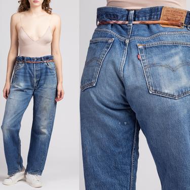 Vintage Distressed Levi's 501 Jeans - 38x33   80s 90s Unisex Denim Straight Leg High Waist Dad Jeans by FlyingAppleVintage