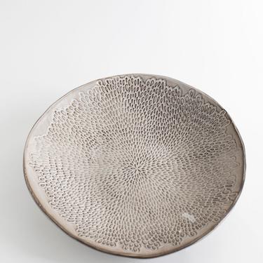 Petal Serving Bowl, Large Serving Bowl, Ceramic Serving Bowl, Stoneware Serving Bowl, Wedding Gift by TagliaferroCeramics