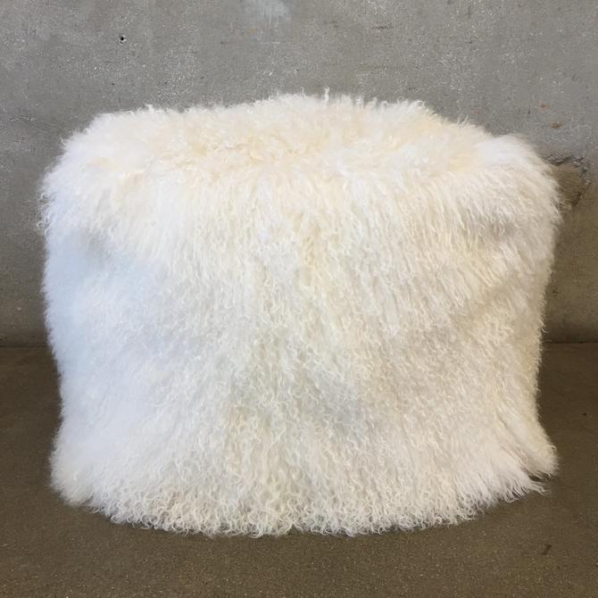 Real Lamp Fur Pouf