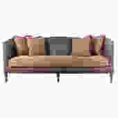 Lillian August Louis XVI Style Leather Sofa