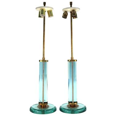 Fontana Arte Italian Modernist Table Lamps Attributed To Pietro