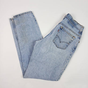 80s 90s Vintage Levi's 550 Jeans 30x32 size 11 Long High Waisted Tapered Leg Made in USA by SlimeWarpVintage