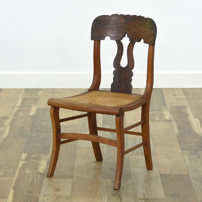 Antique Carved Cane Seat Dining Chair