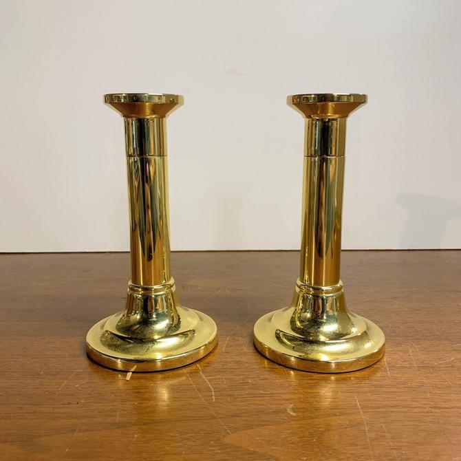 "Vintage Baldwin Brass Candlesticks Pair 6"" by OverTheYearsFinds"