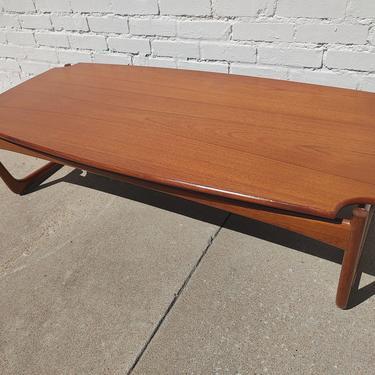 Mid Century Danish Modern Teak Coffee Table by VintageVaultTulsa