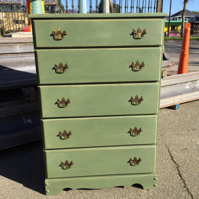 Green Painted Dresser