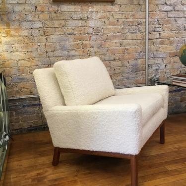 Harvey Probber French Vanilla Sheepskin Lounge Chair