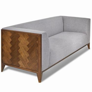 Walnut Mid Century Sofa 3 Seater, Wood frame sofa, Mid Century sofa  - Bella Collection - Ekais by Ekais