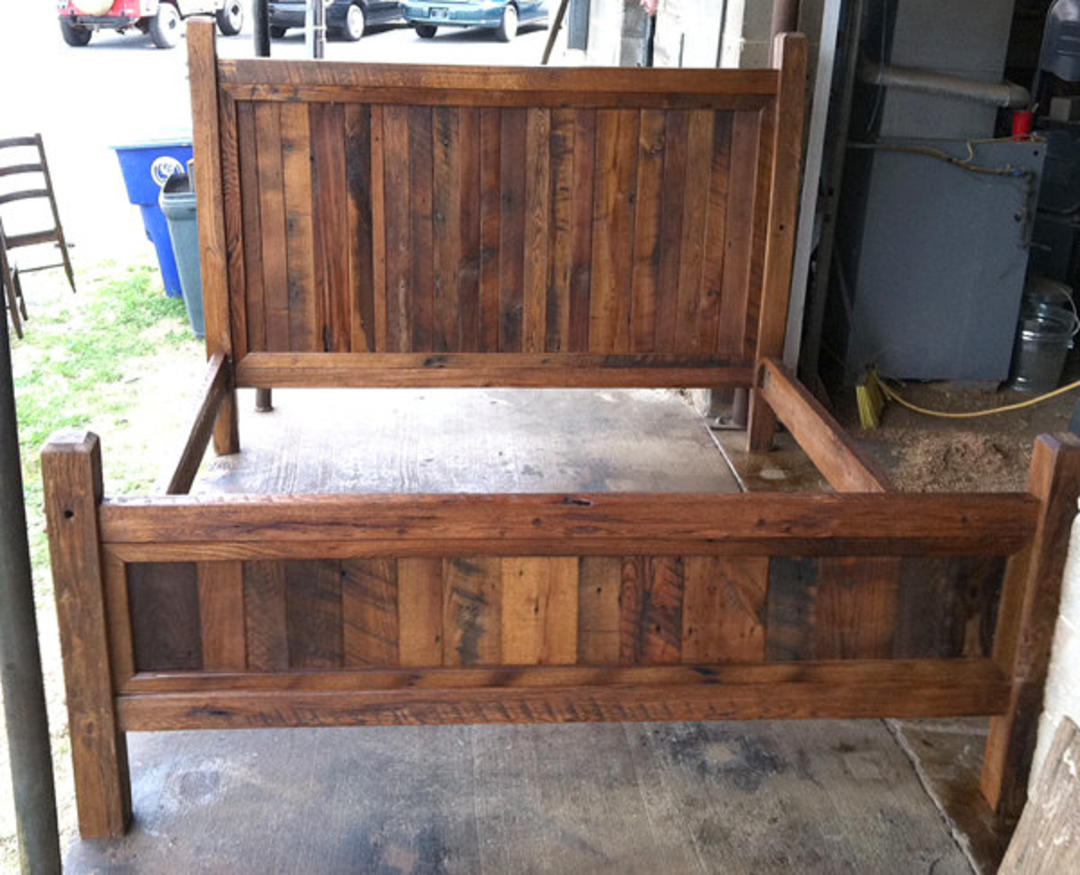 Custom King Size Bed Frame With Gun Storage