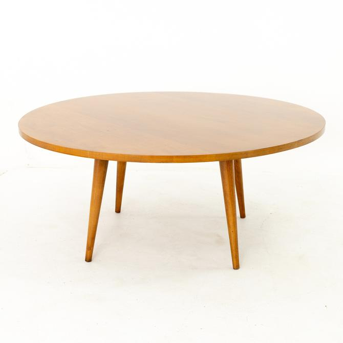 Paul McCobb for Planner Group Mid Century Teak Round Coffee Table by ModernHill