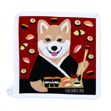 Sushi-ba Shiba Inu Pot Holder