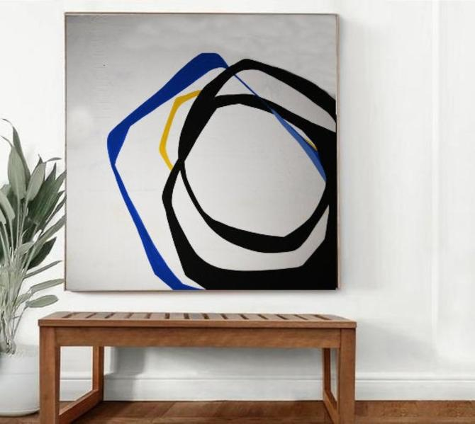"""Custom Order for Chitra J. Two 36""""x36"""" Canvases Abstract Minimalist Art Modern Original Commission ArtbyDinaD by ArtbyDinaD"""