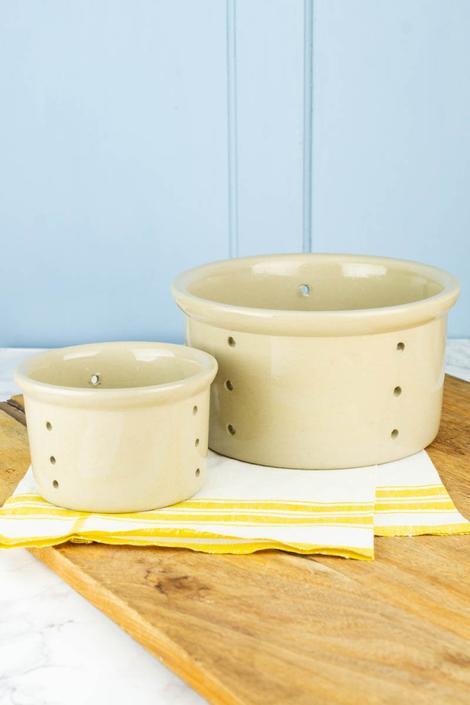 Vintage French Stoneware Cheese Basket