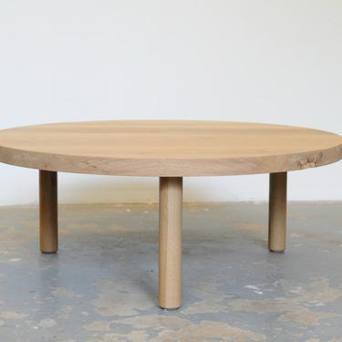 Custom White Oak Coffee Table FREE SHIPPING Round by OlivrStudio