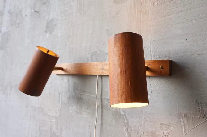 George Nelson 'Holzzylinder' Wall Lamps by FandFVintage