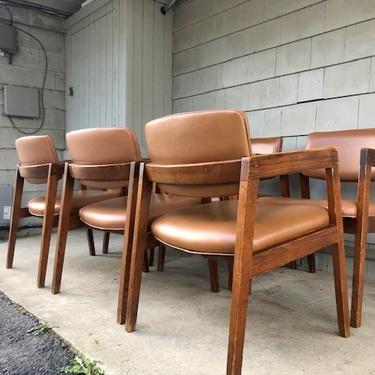 Midcentury Industrial Gunlocke Chair Pair