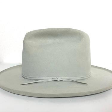 Vintage RESISTOL Western Hat ~ size 7 1/4 to 7 3/8 ~ Cowboy ~ Pencil Curl ~ Fur Felt Fedora ~ Wide Brim ~ 5X Beaver ~ by SparrowsAndWolves