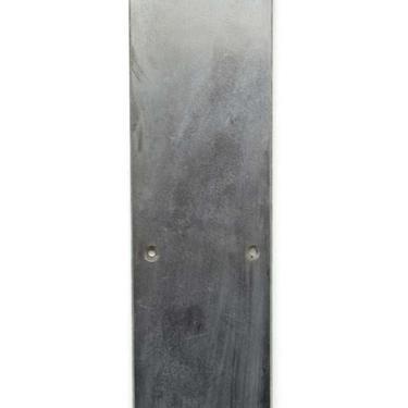 Vintage 16 in. Nickel Over Brass Curved Door Push Plate
