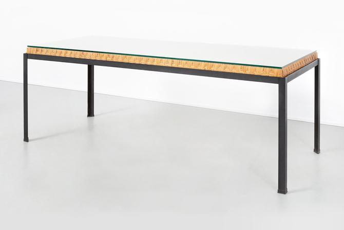 Danny Ho Fong Hand-Woven Reed Dining Table by MatthewRachman