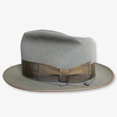 Vintage 1950s STETSON Mode Edge Fedora ~ size 7 ~ Bound Edge / Whippet Style ~ by SparrowsAndWolves