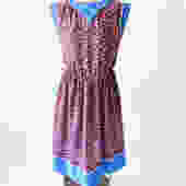 Vintage 80s Dress / Vintage Dress / Graphic Print Dress / Midi Dress / Spring Dress / Size Medium Dress by crazyplatter