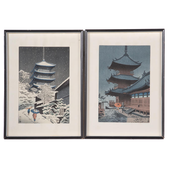 Takeji Asano. Two Shin Hanga Woodblock Prints