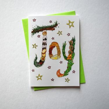 Food JOY Greeting Card + Envelope
