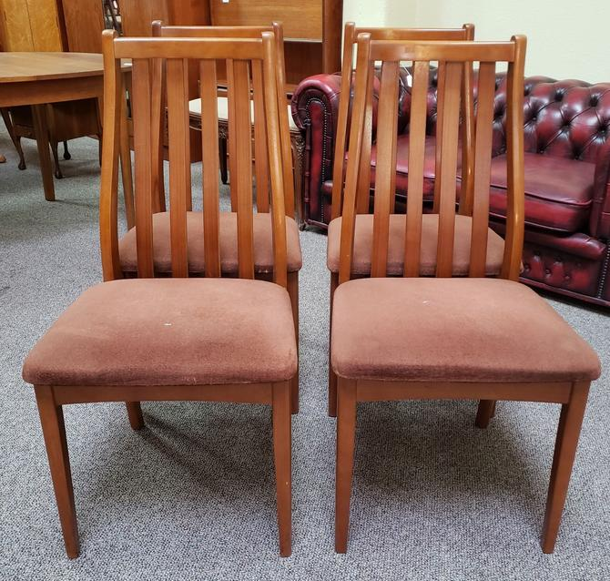 Item #DMC15 Set of Four Vintage High Back Dining Chairs c.1960