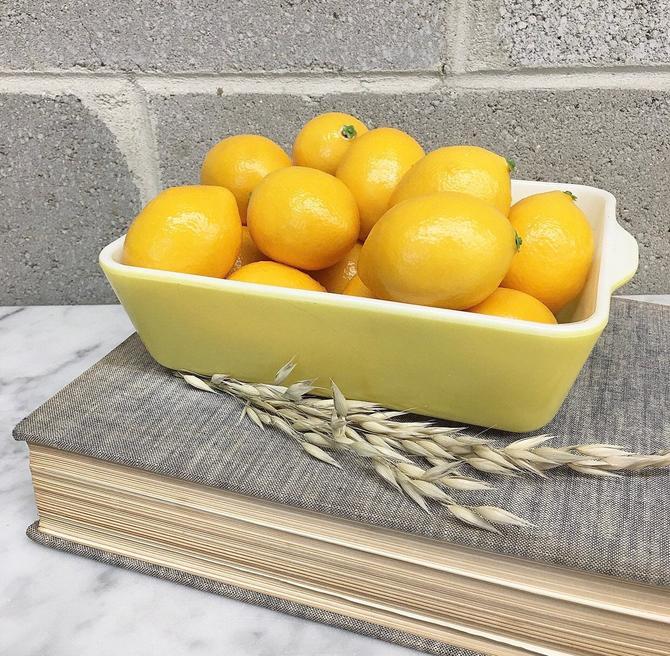 Vintage Pyrex Casserole Retro 1940s Yellow + Primary Color + 503-B + Refrigerator Dish + Servingware + Home and Kitchen Decor by RetrospectVintage215