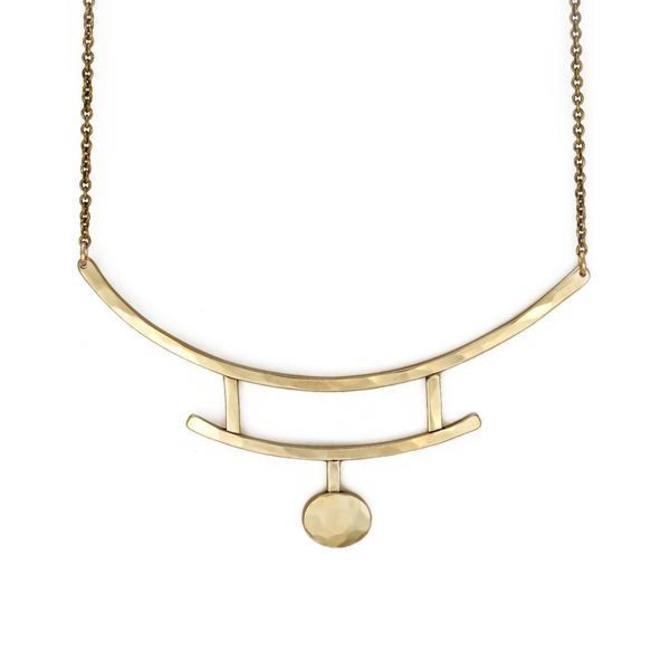 Glyph Necklace - Brass