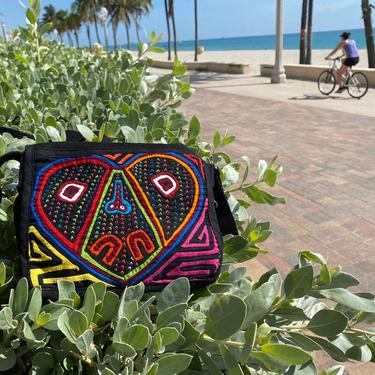 Vintage Mola Purse Panama Embroidered Bohemian Purse Shoulder Bag by TheUnapologeticSoul