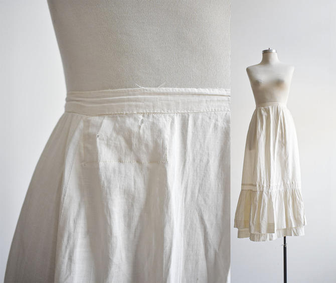 White Cotton Edwardian Skirt by milkandice
