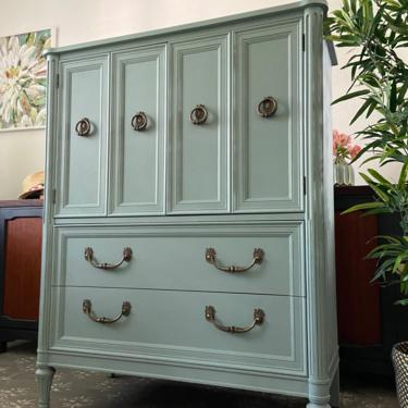 Vintage Italian Provincial Chest Dresser Armoire by Henredon *Local Pick Up Only by BluePoppyFurniture