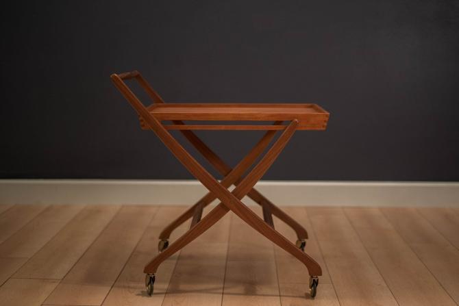 Danish Teak Folding Bar Cart by MidcenturyMaddist