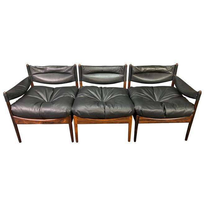 "Vintage Danish Mid Century Modern Rosewood ""Modus"" Modular Sofa by Kristian Vedel by AymerickModern"