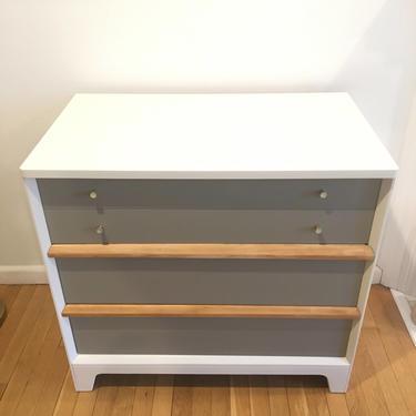 Mid-century dresser || White + Wood mid century dresser by FolkloveStudio