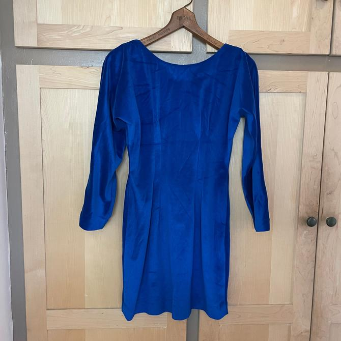 Bright Blue 80s Party Dress 1980s Clothing by LoveItShop