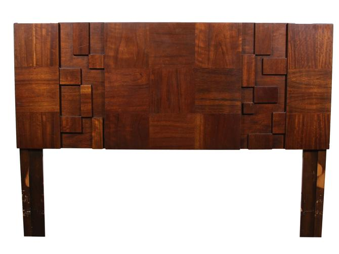 Mid Century Brutalist Queen Size Headboard By Lane by RetroPassion21