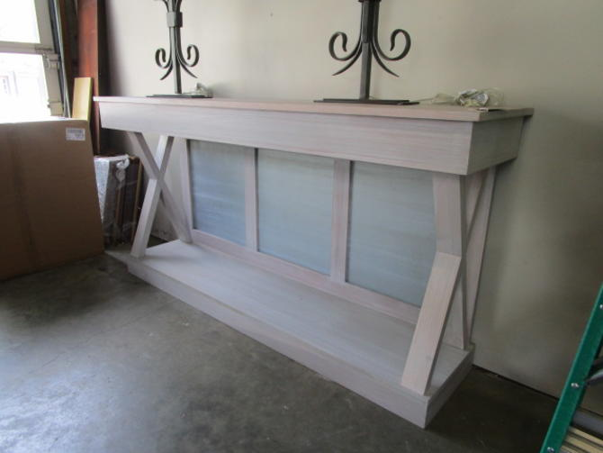 LARGE LONG PAINTED CONSOLE